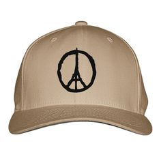 Peace For Paris Embroidered Baseball Cap