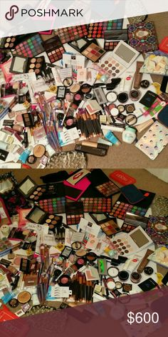 Huge makeup stash My huge makeup stash on sale!!!! Everything is new except for a few products.... Ask me about the prices or make me offers. Makeup