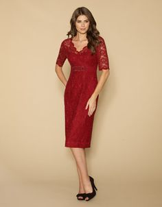 Layla Lace Sleeved Embellished Dress