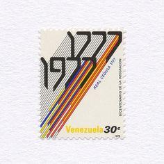 Bicentenary of Royal Decree Integration (30c). Venezuela, 1978. Design: Gerd Leufert / Nedo Mion Ferrario / Alvaro Sotillo / Santiago Pol. #mnh #graphilately