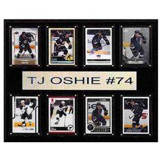 C and I Collectables NHL 15W x 12H in. T.J. Oshie St. Louis Blues 8 Card Plaque - 1215OSHIE8C