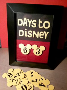 My Days to Disney Countdown