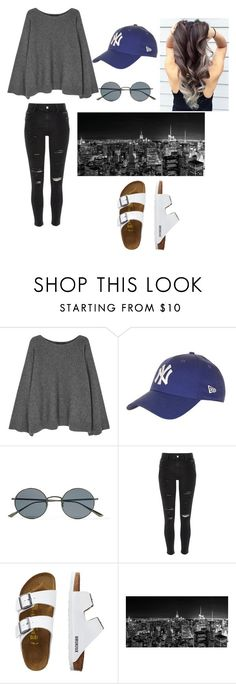 """""""Visiting NYC"""" by kkmahony ❤ liked on Polyvore featuring The Row, Topshop, Oliver Peoples, River Island and TravelSmith"""