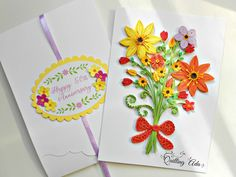 Quilling flowers card