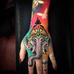 Ganesha tattoo by Bobby Cupparo
