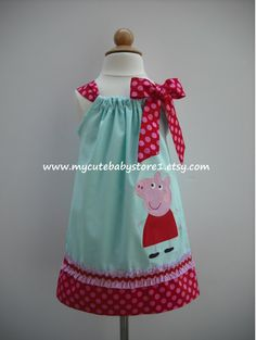 Peppa Pig Pillowcase dress by mycutebabystore1 on Etsy