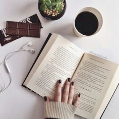 Read book Drink coffee Eat chocolate Your day will become better, trust me.