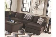 Jessa Place 3-Piece Sectional by Ashley HomeStore, Brown, Polyester (100 %)