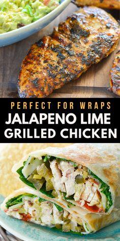 #HealthyFoodToMake Grilled Chicken Wraps, Perfect Grilled Chicken, Grilled Chicken Recipes, Best Chicken Recipes, Lime Chicken, Healthy Foods To Make, Healthy Diet Recipes, Healthy Food Choices, Veggie Recipes