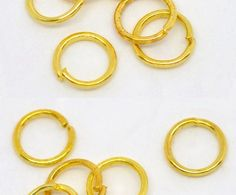 Jump Rings - 6mm Open Jump Rings - 50 or 100 Pcs - Jewelry Findings - Gold Jump Rings For Jewelry Making - Connect Charms, Tassels - JR-G06 #etsy #jewelrysupplies