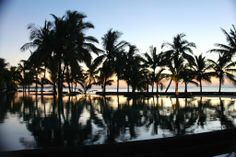 Sunset nearby the pool of Trou aux Biches Resort & Spa, Mauritius by @Concorde12