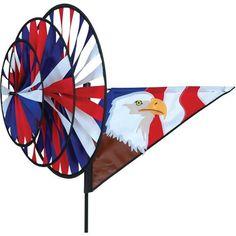 Patriotic Eagle Triple Spinner - Fly-Me Flag
