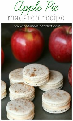 Perfect for holiday goodie trays or year round! Apple Pie Macarons recipe.