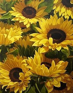 Sunflowers by Loren DiBenedetto ~ OIL … Sunflower Garden, Sunflower Art, Sunflower Fields, Happy Flowers, Beautiful Flowers, Sun Flowers, Sunflowers And Daisies, Sunflower Pictures, Sunflower Wallpaper