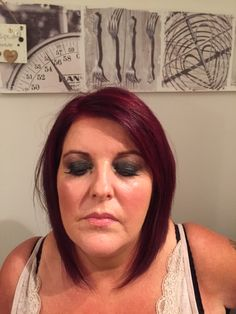 Black smokey eye for wedding guest