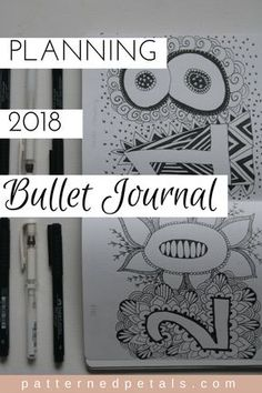 how to plan 2018 bullet journal