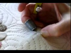 Hand quilting with spoon, and needle puller Hand Quilting, Spoon, Patches, Tutorials, Make It Yourself, Quilts, Sewing, Youtube, Scrappy Quilts