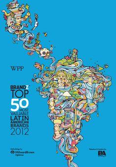 50 marcas más valiosas de América Latina 2012 #LATAM