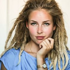 Check by Galapril for photos, videos, recipes, travel and more! Dreadlock Rasta, Dreadlocks Girl, Locs, Dreadlock Hairstyles, Cool Hairstyles, Hairdos, Partial Dreads, White Dreads, Hair Reference