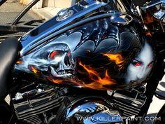 Vampire Themed Harley-Davidson Freewheeler Trike - Painted by Airbrush Artist Mike Lavallee of Killer Paint - www.killerpaint.com