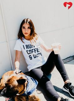 I RUN ON COFFEE AND DOGS.  **Every purchase feeds 8 shelter dogs! How cool is that?**