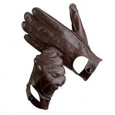 Men's Leather Driving Gloves in Brown - Aspinal of London    Men have the best driving gloves!