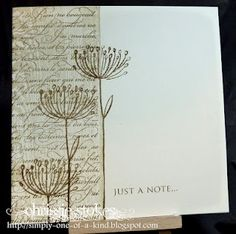 my kind of card from Less is More Challenge Blog