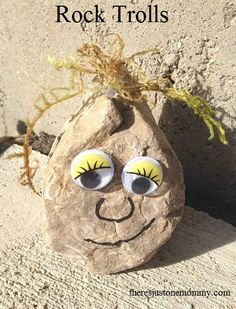 #Frozen themed rock troll craft -- fun for a birthday party take-home!