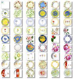 Décors floral 2 pour les Arts de la table - Palluy-
