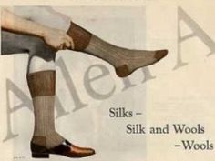 1920s Men's Underwear, Pajamas, Robes and Socks - Allen Sock Ad- Reinforce Heel, Toes and Calf Band