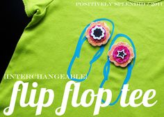Interchangeable Flip Flop Tee (SSG Idea #15) | Positively Splendid {Crafts, Sewing, Recipes and Home Decor}