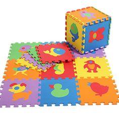 V-SOL Alfombra Tipo Puzzle De Juego Para Niños Bebé Diseño Animal Cartoon – 30*30*1cm / 10pcs