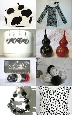 Black and White and Red All Over by Rebecca Bollweg on Etsy--Pinned with TreasuryPin.com