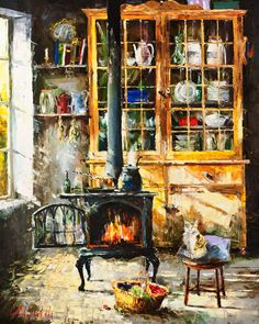 Country Kitchen by Gleb Goloubetski