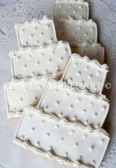 Swiss Dot Wedding Cake Cookie 1 Dozen di LindasEdibleArt su Etsy