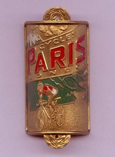 """Paris Bicycle Head Badge. """"And it certainly has that French styling about it."""" Thanks to Idda for sharing this pin MAKETRAX.net - Bicycle HEADBADGES"""