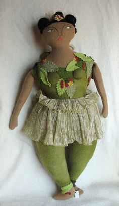 Original design, wool fairy doll with embroidered face. Recycled antique/vintage wool fabrics. Wool hair. She is approx. 18 tall. I accept paypal and also checks or money orders. If you buy several items, ask for a shipping discount- the amount will depend on what combination of things