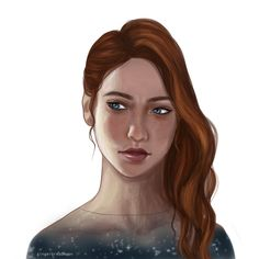 """gingerbreadmoon: """" a little drawing of Feyre for the wonderful @alittlegothinsideme (I seriously need to read more than the first few chapters of this series now, it is actually getting ridiculous -although I think I know 60% of what happens purely..."""