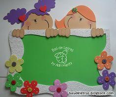 .::BAÚ DE LETRAS::. E.v.a. e Scrapbook: Material Pedagógico Cute Crafts, Crafts For Kids, Diy Crafts, Birthday Charts, Class Decoration, Art N Craft, Scrapbook, Busy Book, Foam Crafts