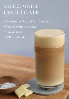 This Salted White Chocolate recipe combines everything you're looking for in an indulgent coffee treat. Your taste buds are sure to enjoy the creamy vanilla flavor.