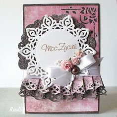 love, life and crafts Rudlis Spellbinders Cards, Parchment Craft, Beautiful Handmade Cards, Shabby, Cute Cards, Vintage Cards, Greeting Cards Handmade, Scrapbook Cards, Thank You Cards