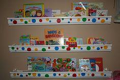Make rain gutter book shelves   TheWHOot