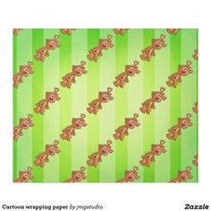Cartoon wrapping paper great for Christmas wrapping birthday party his or her party cute, fun, cartoon design, home, craft idea, zazzle store, holiday,