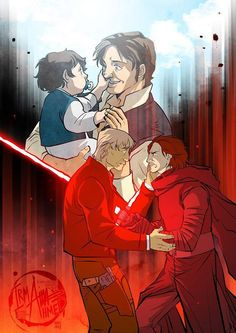Star War fan art of Kylo Ren and Han Solo. I can't wait how Star Wars Episode IX plays out. Will Ben Solo get his redemption? Star Wars Fan Art, Star Wars Vii, Star Wars Han Solo, Star Wars Rebels, Star Trek, Star Wars Kylo Ren, Starwars, Han And Leia, The Force Is Strong