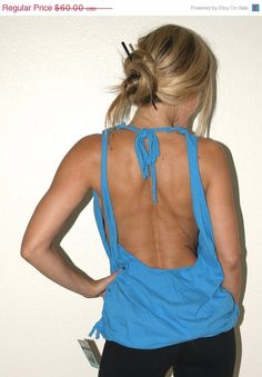 diy T-Shirt open back cut (I love shirts with a tie at the back of my neck)...I'm a layering girl, though, not this daring