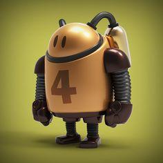 Original robot designs executed on a daily basis for Inktober/Botober 2013.
