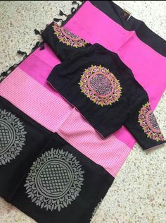For order and more info contact us on 6394837380 Simple Blouse Designs, Blouse Back Neck Designs, Sari Blouse Designs, Designer Blouse Patterns, Bridal Blouse Designs, Blouse Styles, Cut Work Blouse, Blouse Models, Indian Designer Wear