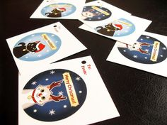 Cat Christmas Gift Tags for Charity by SliceofOrange, $2.00