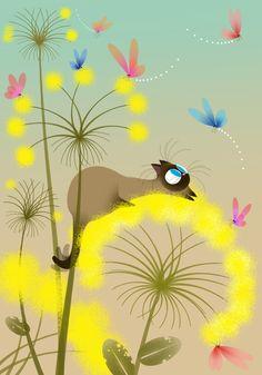 La chasse aux papillons - Illustration Marie-Rose Boisson
