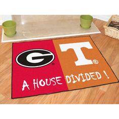 Georgia Bulldogs /Texas Longhorns House Divided All-Star Floor Mat (34x45)